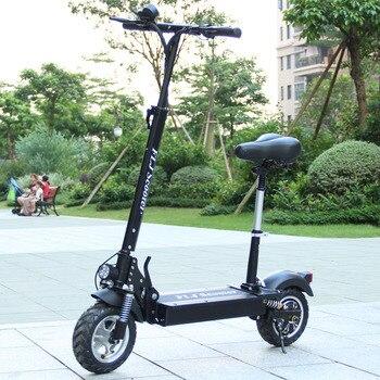 Patinete eléctrico con asiento para adulto, Scooter plegable de 48V y 1200W con ruedas grandes, disponible en Europa