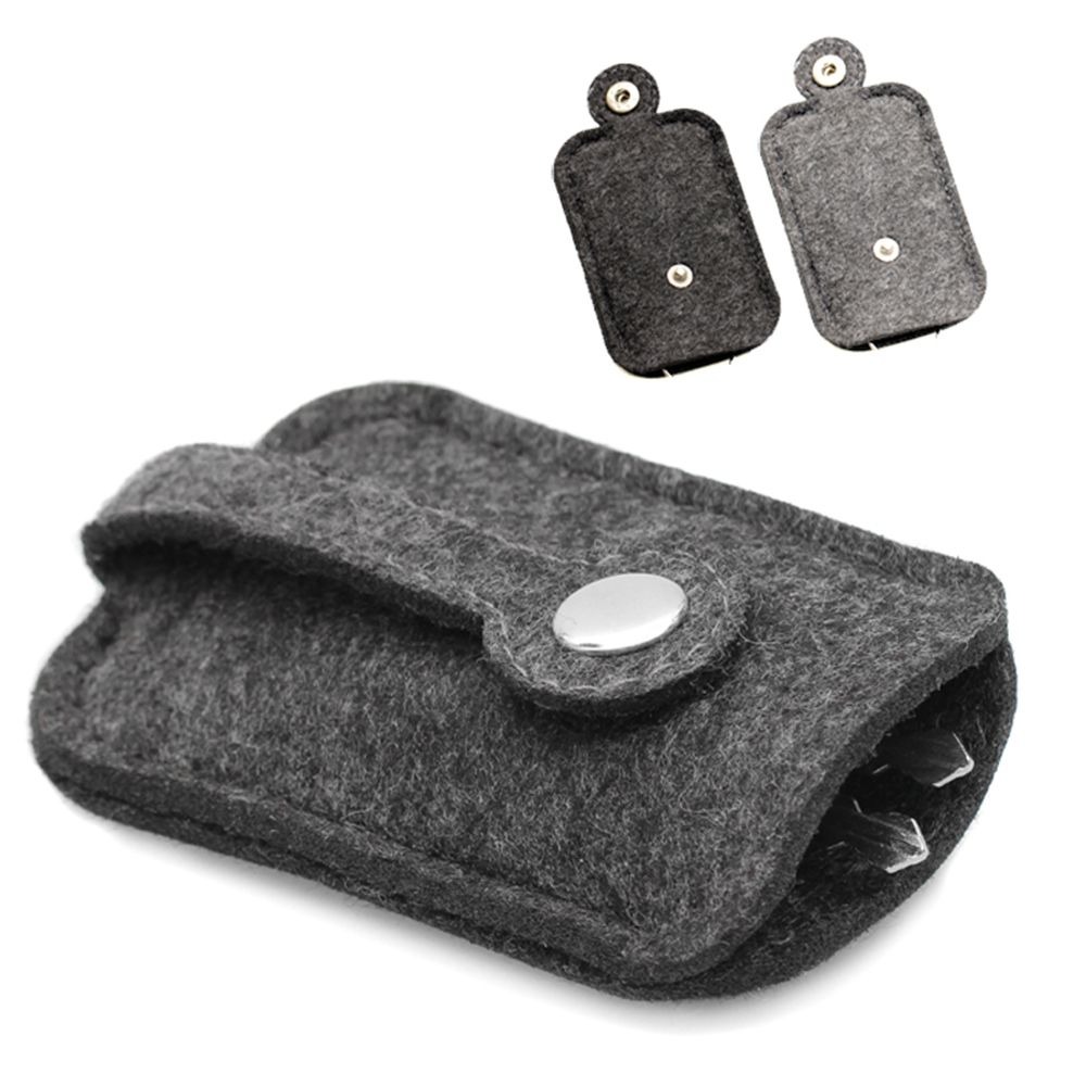 New 1Pc Fashion Car Key Bag Wallet Purse Woolen Felt Keychain Holder Pocket Keys Organizer Pouch Case Bag For Men Housekeeper
