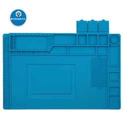 PHONEFIX 45x30CM Isolamento Térmico de Alta Temperatura Silicone Pad Mat Com Parafusos de Reparo De Solda Elétrica Local