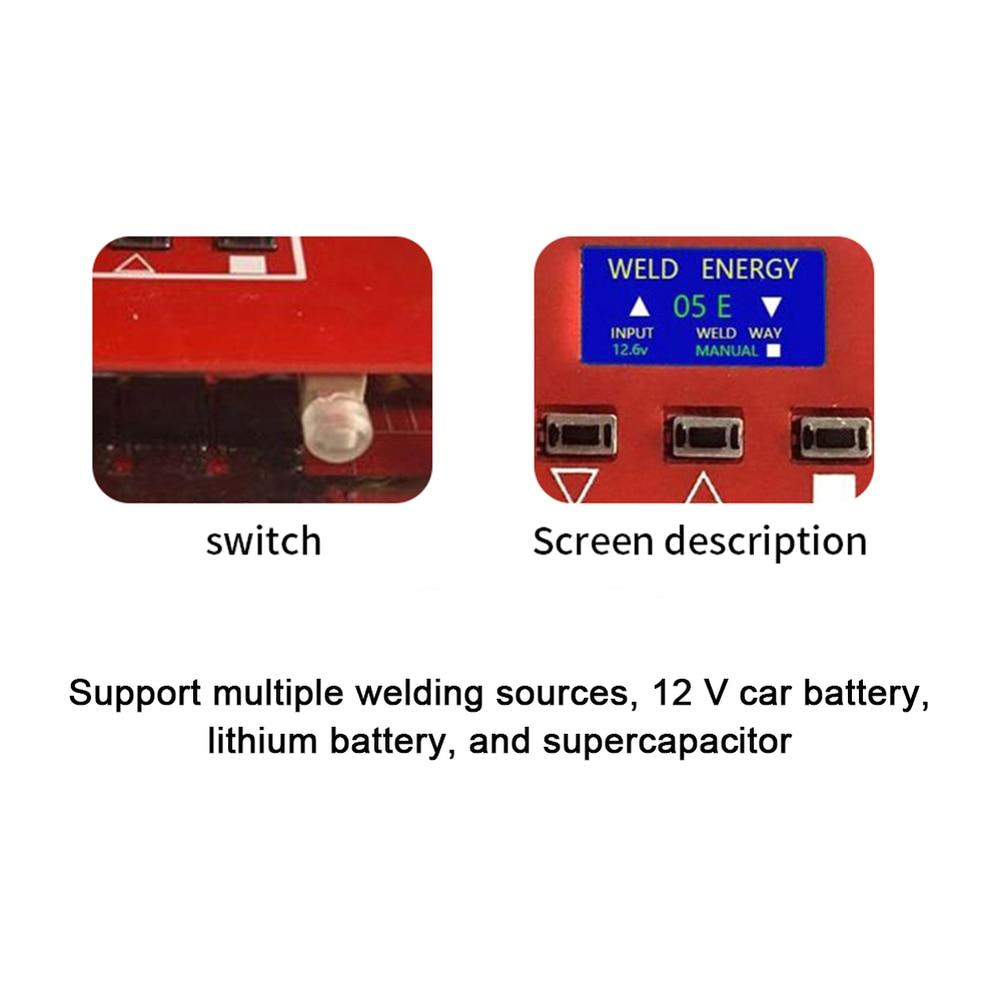 Tools : Portable Mini Spot Welder DIY Welding Machine LCD Display 18650 Battery Various Welding Power Supply Spot Welder Welding Machine