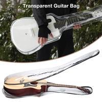Transparent Guitar Bag Carry Case Backpack Acoustic Folk Guitar Gig Bag Cover With Double Shoulder Straps Guitar Bag