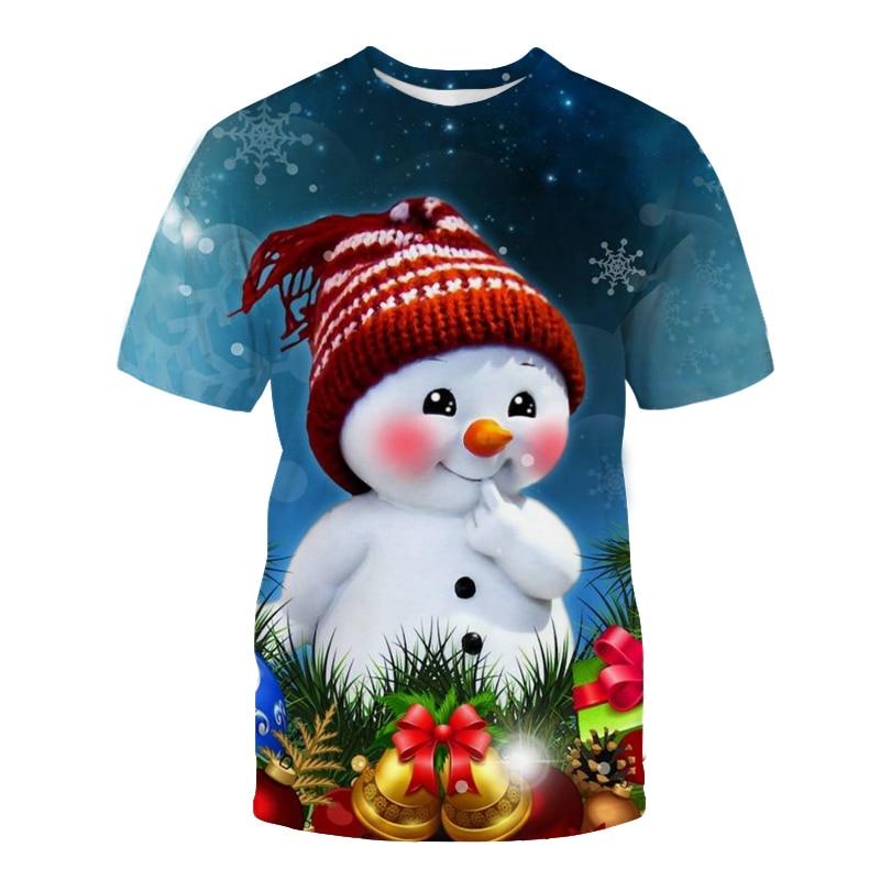 Новая и интересная Студенческая модная футболка с коротким рукавом в виде рождественской елки в европейском и американском стиле мужская ф...