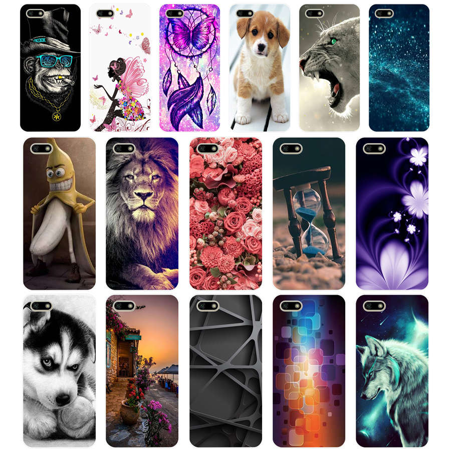 12 Silicone case For Huawei <font><b>Honor</b></font> <font><b>7A</b></font> Case 5.45