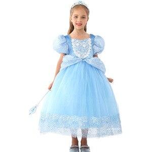 7 слоев Люкс платье Золушки Одежда для девочек Рождество Хэллоуин вечерние костюмы Дети День рождения свадебное платье 3 6 8 10 лет