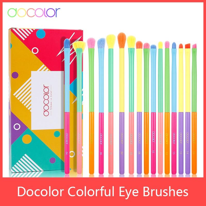 Docolor 16pcs Makeup Brushes Tool Set Cosmetic Powder Eye Shadow Foundation Blush Blending Beauty Make Up Brush Maquiagem