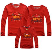 Matching Family Sweatshirt Outfit Mommy-Me Baby Red Mom Son