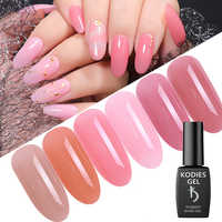 KODIES GEL12ML Gelee Rosa Gel Nagellack Vernis Semi Permanent UV Gel Lack Lack Opal Transparent Rosa Maniküre für Nägel