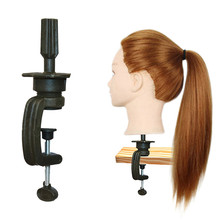 Mannequin Hairdressing-Clamp Head-Stand Human-Hair-Wig-Model Long-Hair Training Practice