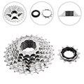 Велосипедная кассета, 7 скоростей, 12-28T, гибридный горный велосипед, велосипедная Задняя кассета свободного хода, серебристые Аксессуары для...