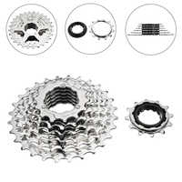 Bike Cassette 7 Speed 12-28T Hybrid Mountain Bike Cycling Rear Freewheel Cog Cassette Bicycle Parts Accessories Silver