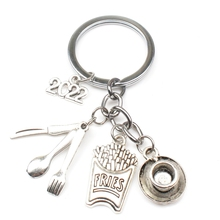 2022 Omelet Chef Keychain, Blender, Teacup, Creative Kitchenware Pendant Keychain Jewelry Gifts for Men and Women DIY Handmade