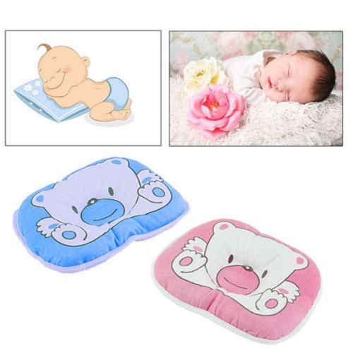 Almohada Anti-rollo de animales de dibujos animados para bebé cojín de memoria de espuma para recién nacido soporte para el cuello