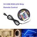 RGB 5V LED Strip Light Lighting 5m Luces Vanity Mirror Lights 55 Inch TV Background USB Diode For Room LED Flexible Tape White