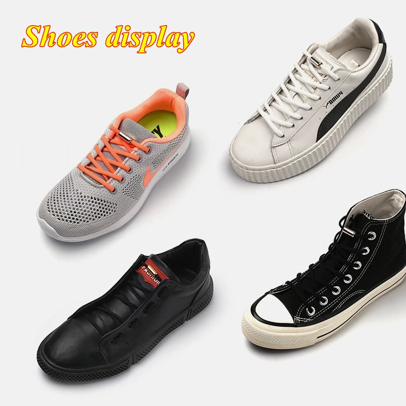 1Pair No tie Shoelaces Round Elastic Shoe Laces For Kids and Adult Sneakers Shoelace Quick Lazy Laces 19 Color Shoestrings 3