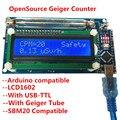 Montiert DIY Geigerzähler Kit Modul Kern Strahlung Detektor mit LCD Display Strahlung Dosimeter System Arduino NANO-in Linearführungen aus Heimwerkerbedarf bei