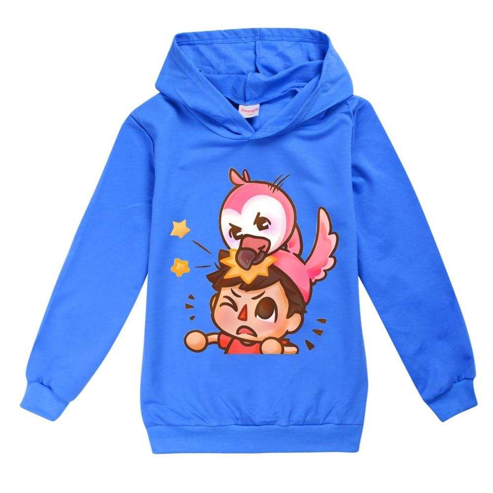Kids Boys Sweatshirt Flamingo Flim Flam Hoodie Spring Street Sonic Hooded Trendy Fashion Girl Jacket Children Pullover Tops 2