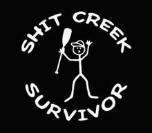 Shit Creek Funny Window Vinyl Decal Sticker 13x13cm