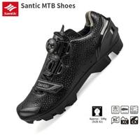 Santic ciclismo mtb auto bloqueio sapatos masculinos respirável sapatos de bicicleta de montanha fechaduras sapatos de ciclismo|Sapatos de ciclismo| |  -