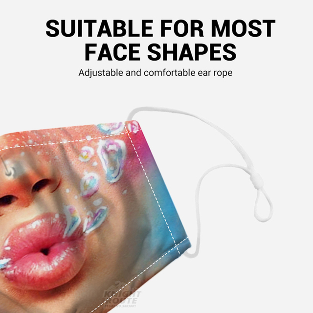 Digital Printing Motorcycle Face Mask Mouth Balaclava Moto Mask Dust Protective Activated Carbon Filter Caps Face Masks Reusable 4