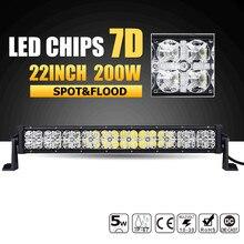 "22"" 200W 7D LED Light Bar Offroad Combo Beam Led Working Light Bar 12v 24v ATV Truck SUV 4WD 4x4 Daytime Running Driving Lamp(China)"