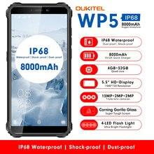 OUKITEL WP5 IP68 Waterproof Smartphone Android 9.0 Triple Camera Face/Fingerprint ID 5.5inch 4GB 32GB 13MP 8000mAh Mobile Phones