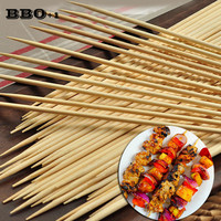 500pcs 30cmx3.5mm Bamboo Wooden BBQ Skewers Meat Food Long Catering Grill Forks Party Disposable Sticks outdoor camping tools