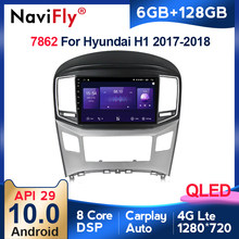 6G + 128G QLED 4G LTE WIFI Carplay Android 10 Für Hyundai H1 2017 2018 Auto Radio audio Multimedia Video Player Navigation GPS BT