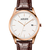France Luxury Brand AILUO Couple's Watches Quartz Movement Women's Wristwatches Ultra thin Watches Waterproof reloj mujer A7082L