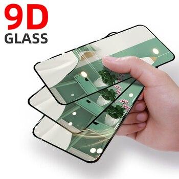 Перейти на Алиэкспресс и купить 9D полный экран из закаленного стекла для Vivo Z1 Pro Z6 Z5X Z5i Y9S Y91 Y95 Y81i Y7S Y79 Y73 Y50 Y3 экран защитное стекло пленка черный край
