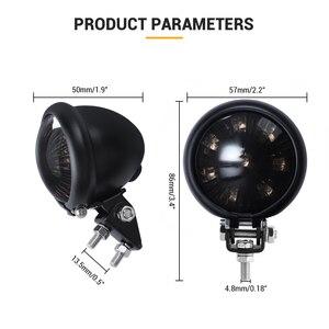 Image 3 - אופנוע זנב אור אדום LED קפה רייסר סגנון להפסיק זנב אור אופנוע בלם אחורי מנורת טאיליט עבור פר Bobber 12V
