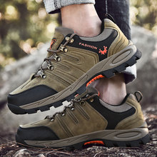 Damyuan Outdoor Hiking Shoes 2019 Summer Air Mesh Breathable Waterproof Lace-Up Soft Sneakers Man Shock Absorption