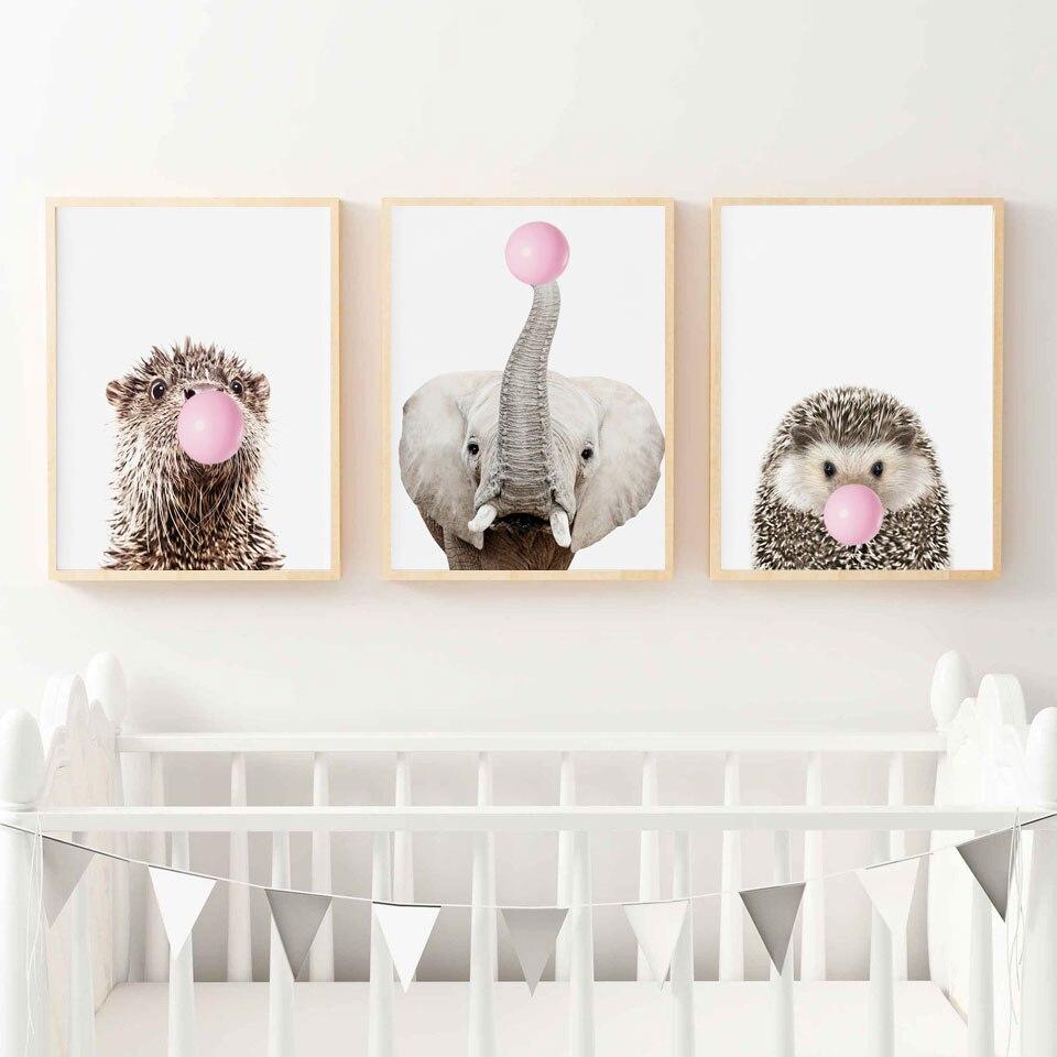主图_Wall_Art_Canvas_Painting_Koala_Zebra_Elephant_Pig_Owl_Balloon_Nordic_Posters_And_Prints_Animal_Wa