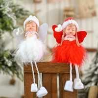 Adornos navideños para el hogar colgante-decoración Ángel muñeca Feliz Navidad elfo árbol colgante 2019 Navidad Navid nuevo año2020 regalo