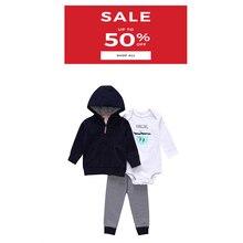 Strój chłopca dla dzieci z długim rękawem z kapturem kurtki + body + spodnie noworodek kostium dla niemowląt odzież 2020 wiosenny i jesienny nowy urodzony ubrania