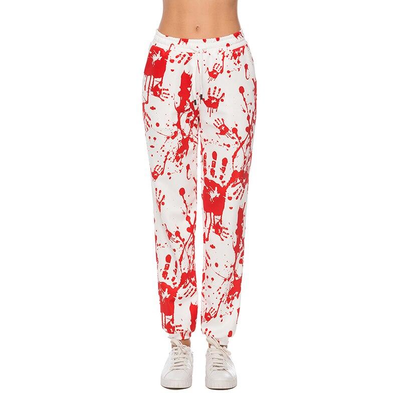 Женские леггинсы с 3D принтом в виде кровяных пальм, модные леггинсы с высокой талией, женские штаны для фитнеса, женские леггинсы, Большая