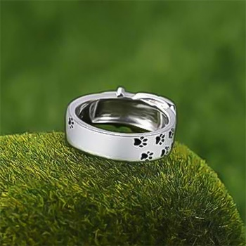 Silver Plated Dog Ring 4