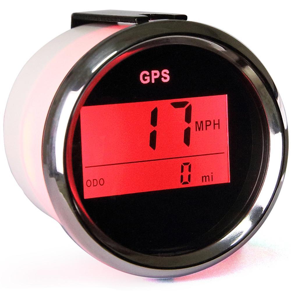 1 мм шт. Новый 52 мм цифровой gps одометры авто мотоцикл индикатор настройки спидометры 9-В 32 В водостойкие скорость mileometers