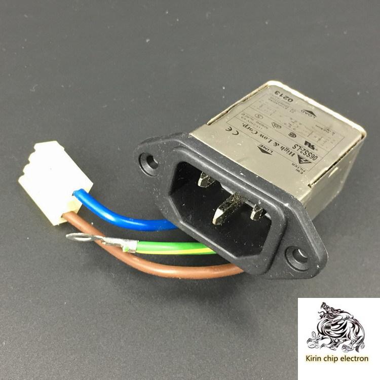 5PCS/LOT Socket Power Filter Q213 6A 115/250V Power Filter Purification Anti-interference