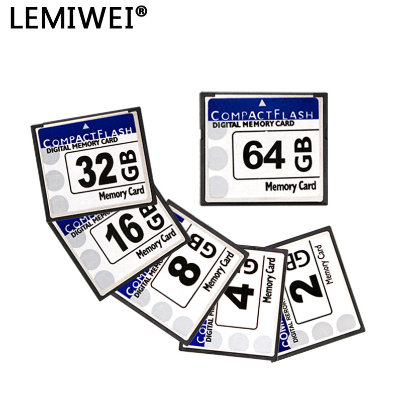 Compact Flash Card 64GB 32GB 16GB 8GB Memory Card High Speed CF Flash Card Real Capacity LEMIWEI CF Card For Camera