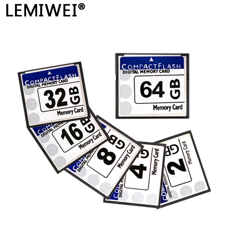 Compact Flash Card 64GB 32GB 16GB 8GB Memory Card High Speed CF Flash Card Real Capacity LEMIWEI CF Card For Camera