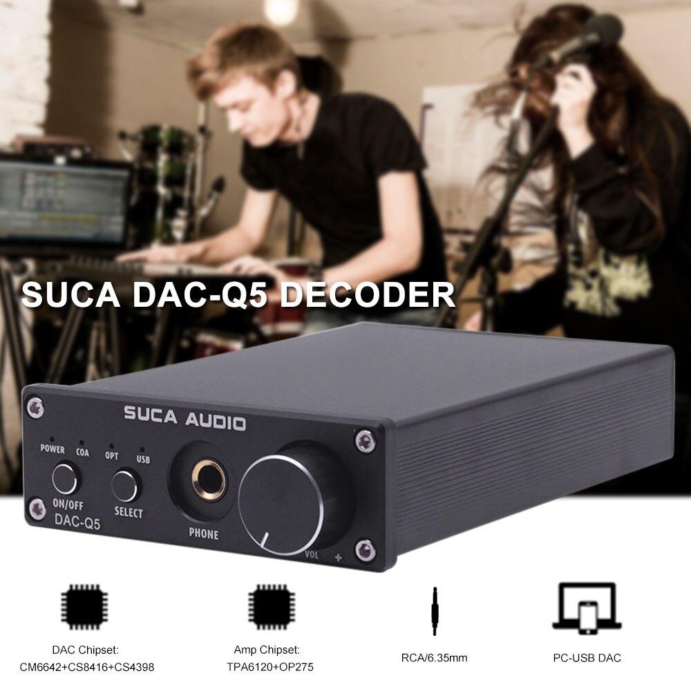 Декодер DAC SUCA DAC-Q5 цифровой аудио усилитель HiFi оптический аудио/коаксиальный/волоконный/USB DAC Q5 декодер с усилителем