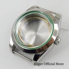 Fit MIYOTA Movement Polished 40mm Watch Case with Mineral Glass new 45mm polished stainless steel case high quality hardened mineral glass fit 6497 6498 st 36 molnija movement watch case