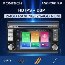 IPS DSP 2 Din Android 9,zero coche reproductor Multimedia para Fiat Bravo 2007, 2008, 2009, 2010, 2011, 2012 Radio de coche GPS de navegación DVD TV 4GB