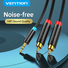 Vention RCA Cable 3.5mm to 2RCA Audio Cable 3.5mm Jack Plug Male to Male AUX Cable for Amplifier Subwoofer Home Theater DVD VCD