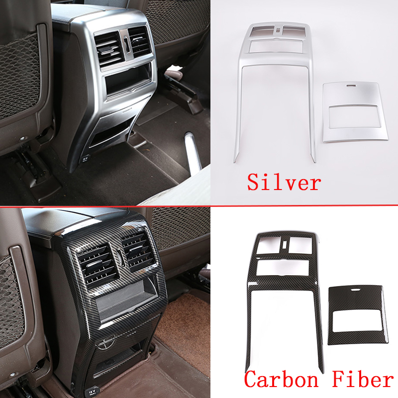 2 Style ABS Chrome Car Rear <font><b>Air</b></font> Vent Frame Cover Trim Accessories For Mercedes Benz GLE GLS ML GL Class 320 400 <font><b>500</b></font> 2013-2019 image