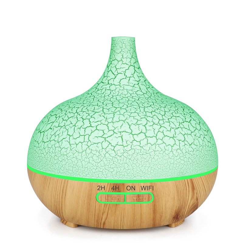 400ml Timing Voice APP Control Air Humidifier WiFi Essential Oil Diffuser car Air Humidifier for home Works with Alexa Google