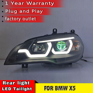 Image 5 - New Car Styling for BMW X5 e70 2007 2013 Headlight LED DRL LOW/HIGH Beam H7 HID Xenon bi xenon lens for BMW X5 Head Lamp Auto