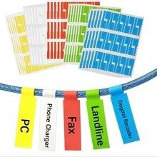 750Pcs Cavo etichetta adesiva A4 Filo di Carta di Rete Ethernet Cavo Elettrico Etichette Cavo Tag Marker Stampa Adesivi Organizzatore