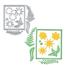 Eastshape Flower Border Metal Cutting Dies for Card Making Scrapbooking Embossing Stencil Craft Frame Couple 2019 New