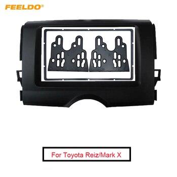 FEELDO 2 DIN Car Frame Panel For Toyota Reiz 2012 Fascia Radio DVD Dash Installation Mount Trim Kit Face Plate Frame #AM4887